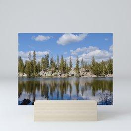 mosquito lake reflections Mini Art Print
