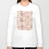 rose gold Long Sleeve T-shirts featuring Rose Gold Waves by Cat Coquillette
