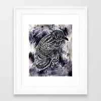 raven Framed Art Prints featuring Raven by BIOWORKZ