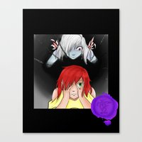 inner demons Canvas Prints featuring Inner Demons by Victoria 'Narithians' Vasquez