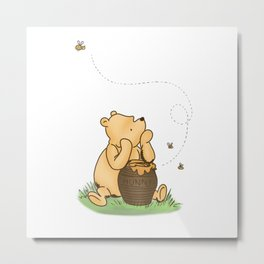 Classic Pooh with Honey - No background Metal Print