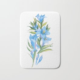 Blue flowers Bath Mat