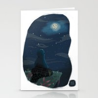 cookie monster Stationery Cards featuring Cookie monster by David Pavon