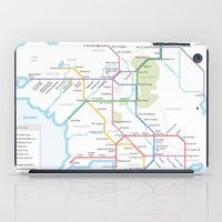 middle earth iPad Cases featuring Middle Earth Transit Map by mehmetikberker