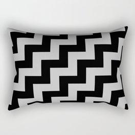 Black and Gray Steps RTL Rectangular Pillow