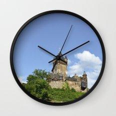 Castle Reichsburg in Cochem Germany Wall Clock