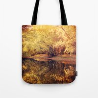 wisconsin Tote Bags featuring Wisconsin River by KunstFabrik_StaticMovement Manu Jobst