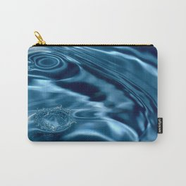 Deep Blue Drip Carry-All Pouch