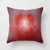queer Throw Pillows featuring Queer Buddha - Joy III by Jamila