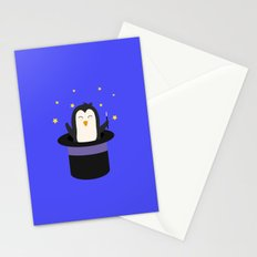 Penguin magician   Stationery Cards