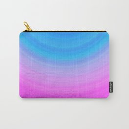 Pink & Blue Semicircles Carry-All Pouch