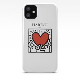 Haring - Heart iPhone Case