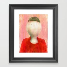 I know that my hair cut is funny Framed Art Print