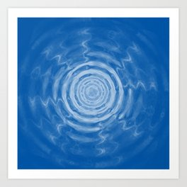 Ripples_blue Art Print