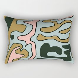 Slithering Pink Blue Brown Black Rectangular Pillow
