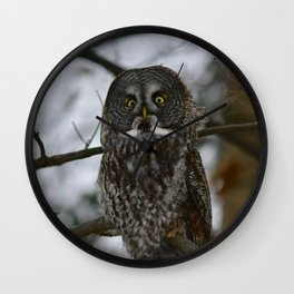 Great Gray Wall Clock