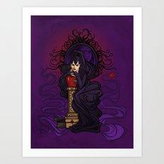 Wicked Queen Nouveau Art Print