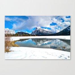 Banff-Canada-Rockie mountains Canvas Print