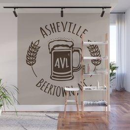 Asheville Beer - AVL 3 Brown Wall Mural