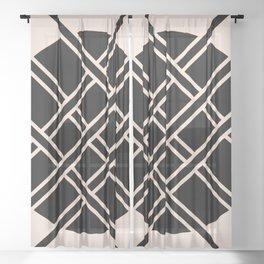 Xs and Os Sheer Curtain