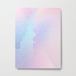 Geometric pastel vibes pattern 1 #pattern #decor #abstractart Metal Print