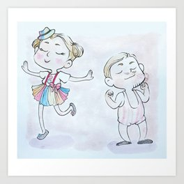 Circus Children Art Print