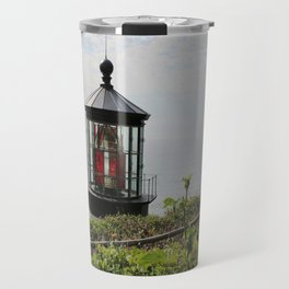 The Red Beacon On Tillamock Bay Travel Mug