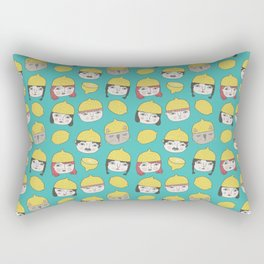 Pattern Project #10 /Lemon Hats Rectangular Pillow