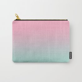 Resti - abstract minimal painting pastel pink mint ombre fade trendy decor colorways Carry-All Pouch