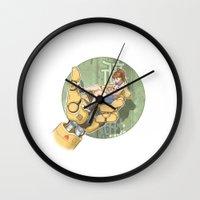 manga Wall Clocks featuring Manga 2 by Hector Gomez