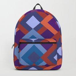 Purple Diamond Shade Geometric Patterns Backpack