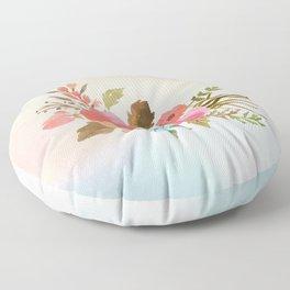 Pastel Posy Floor Pillow