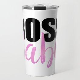 Boss Babe | Black & Pink Travel Mug