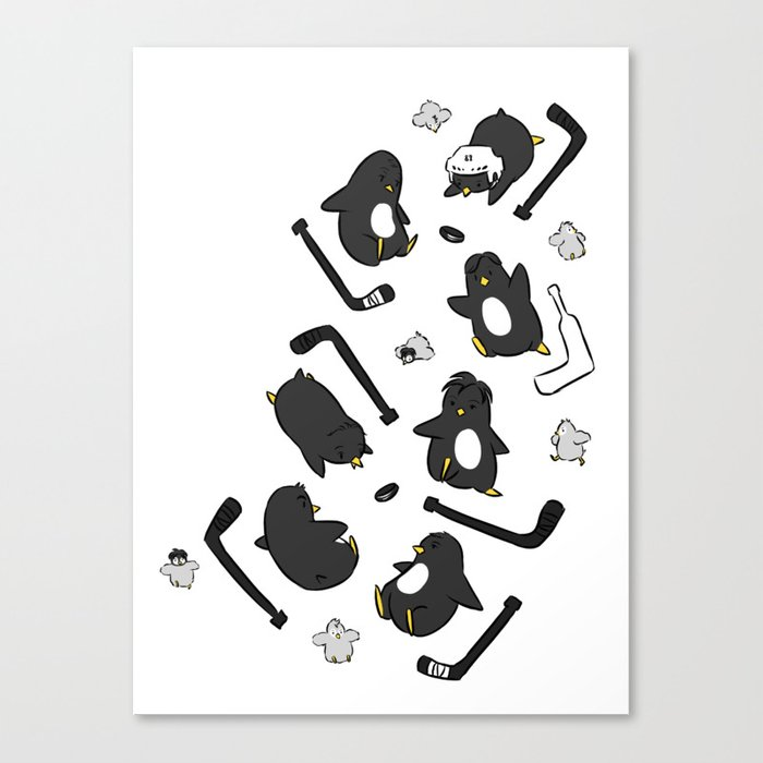 penguin print Canvas Print by omelet Society6