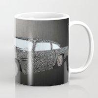 james bond Mugs featuring James Bond Aston Martin DB5 by Dany Delarbre