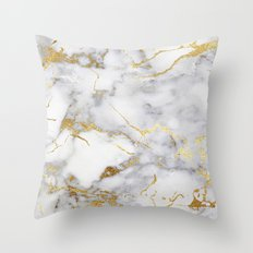 Italian gold marble Throw Pillow