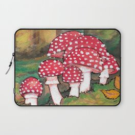 Mushrooms in the Woods Laptop Sleeve