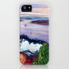 Edvard Munch - Train Smoke iPhone Case