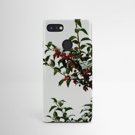 Snow-Kissed Holly Android Case