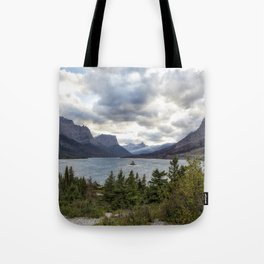 St Mary's Lake and Wild Goose Island Tote Bag