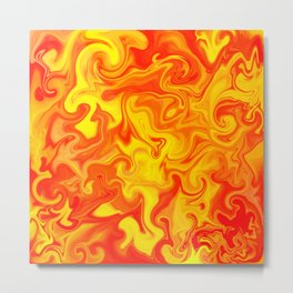 Liquid Hot Lava Marbleized Pattern  Metal Print