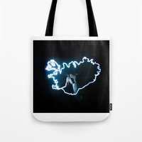 iceland Tote Bags featuring Iceland by Rik&Rut