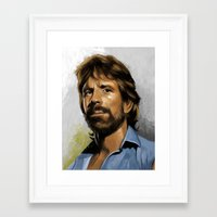 infamous Framed Art Prints featuring Infamous Chuck by Ninth Branch