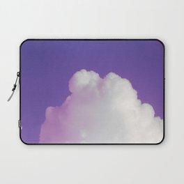Big Fluffy Cloud Against a Purple Sky, Beautiful Cloud and Beautiful Sky Laptop Sleeve