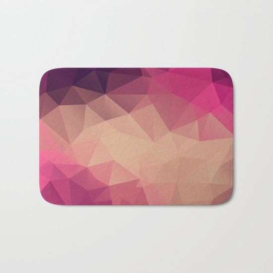 Polygon picture . Sunset. Bath Mat