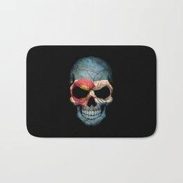 Dark Skull with Flag of Colorado Bath Mat