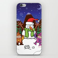Christmas Snowman and Children iPhone & iPod Skin