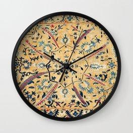 Kermina  Suzani  Antique Uzbekistan Embroidery Print Wall Clock
