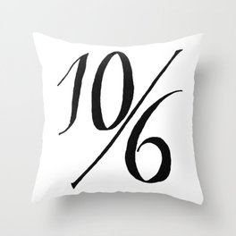 Ten Shillings and Sixpence Throw Pillow