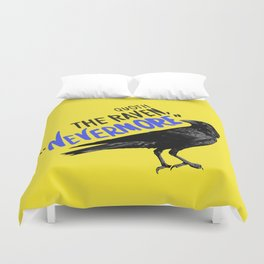 Nevermore Raven - Yellow Duvet Cover
